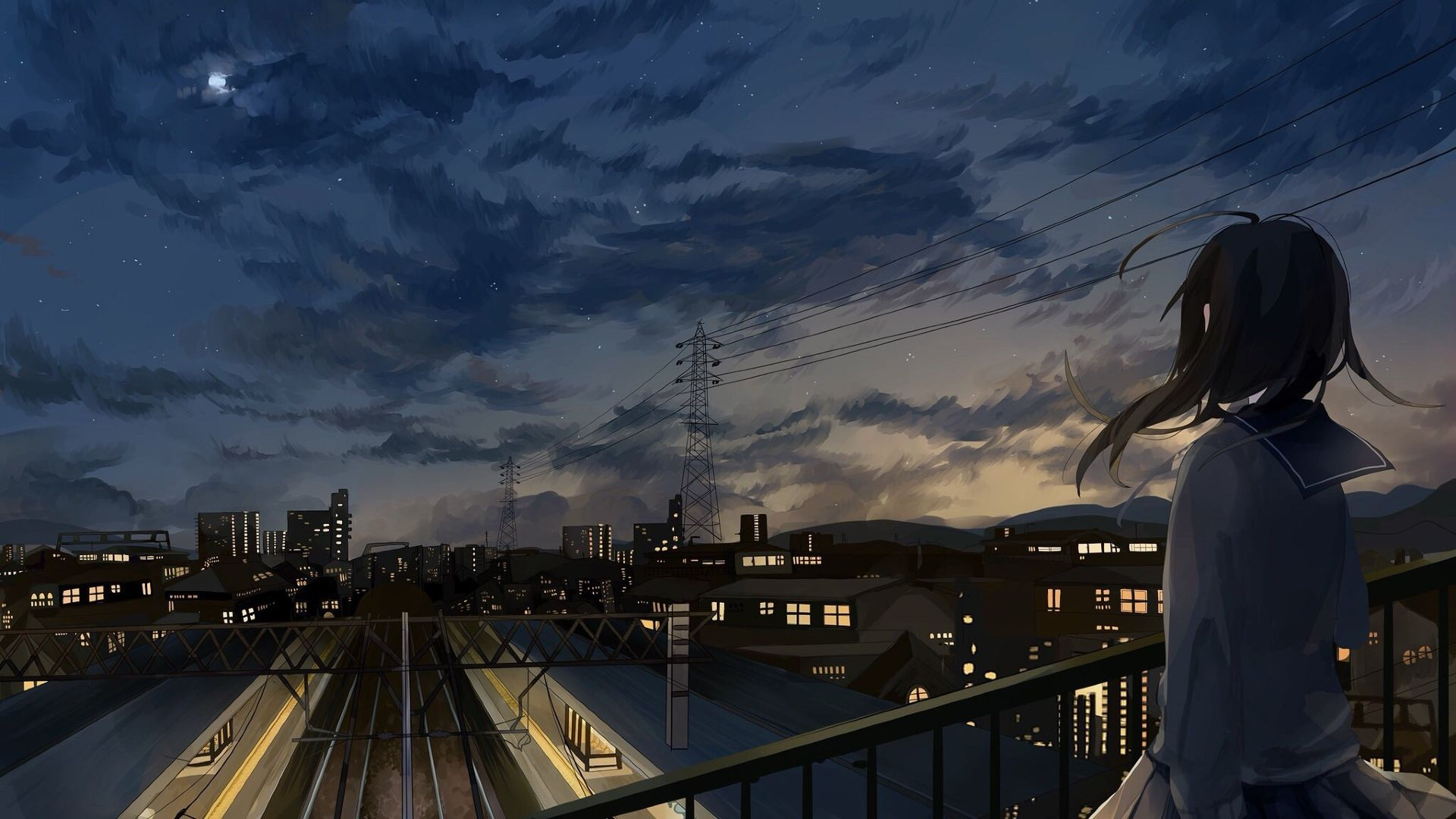 Morning City Anime 1920x1080 Wallpapers - Wallpaper Cave