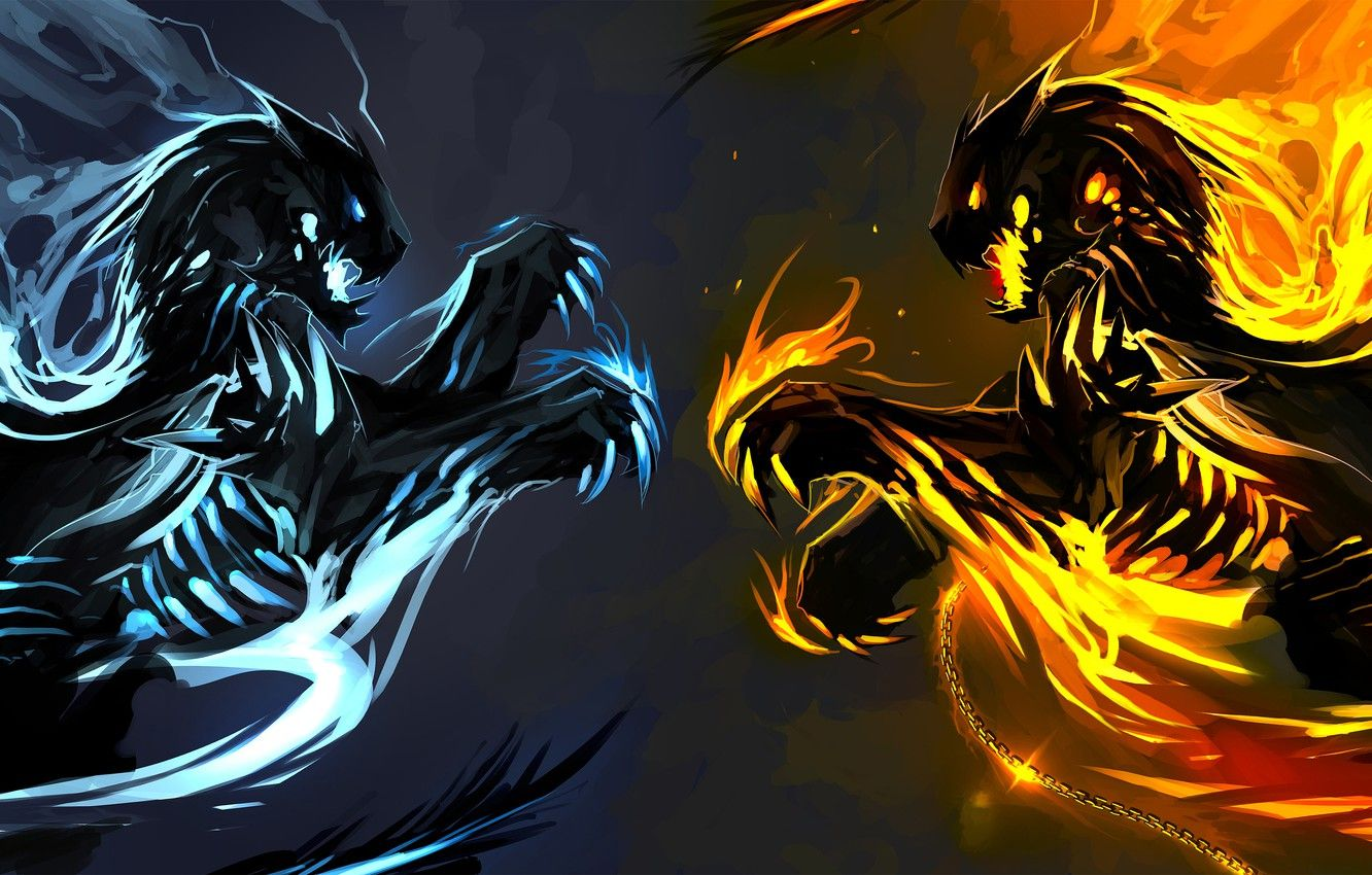 Fire Vs Ice Wallpapers - Wallpaper Cave