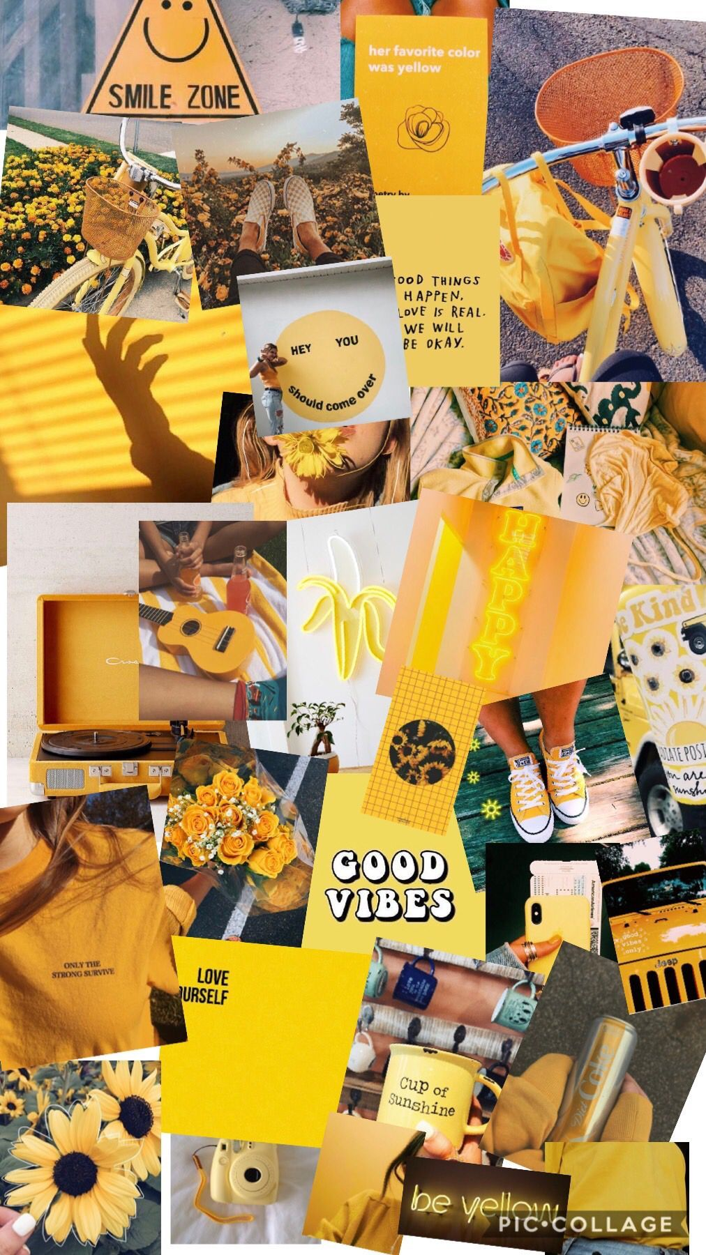 Yellow Aesthetic Photo Collage Wallpapers Wallpaper Cave Cute aesthetic collage wallpapers wallpapershit. yellow aesthetic photo collage