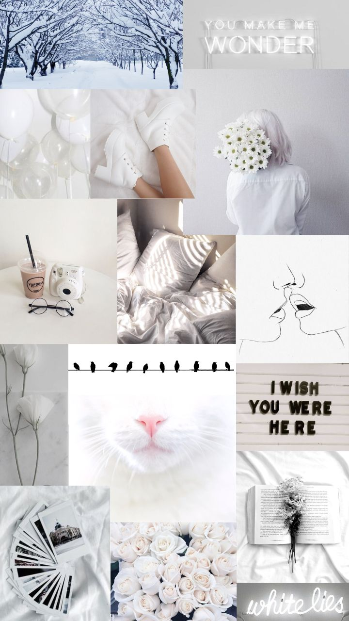 White Aesthetic Collage Wallpapers - Wallpaper Cave