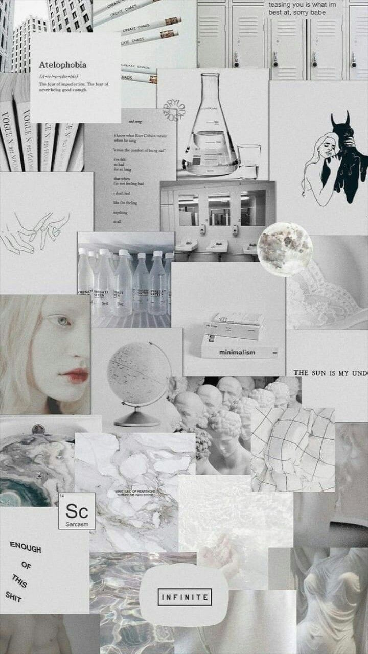 white aesthetic background collage black white collage