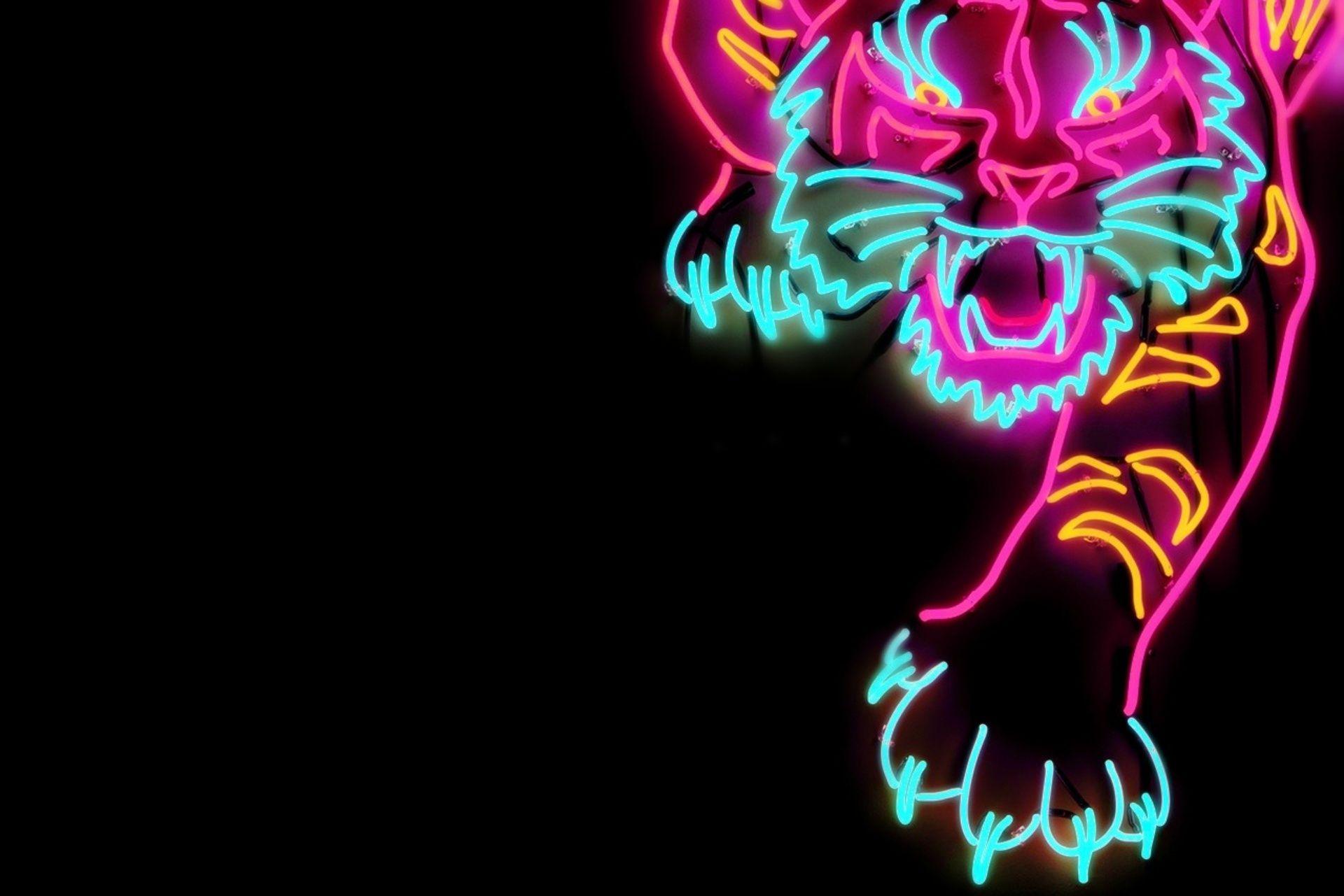 Neon Tiger Wallpapers - Wallpaper Cave