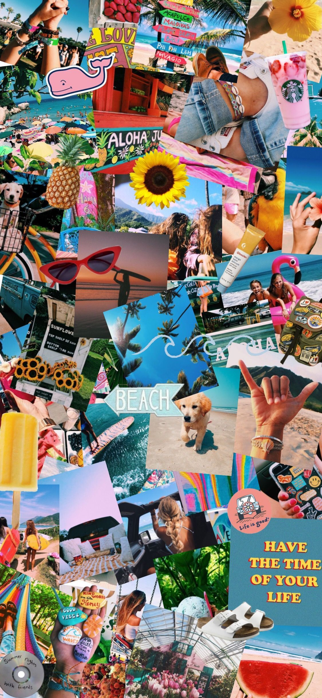 summer aesthetic collage wallpapers