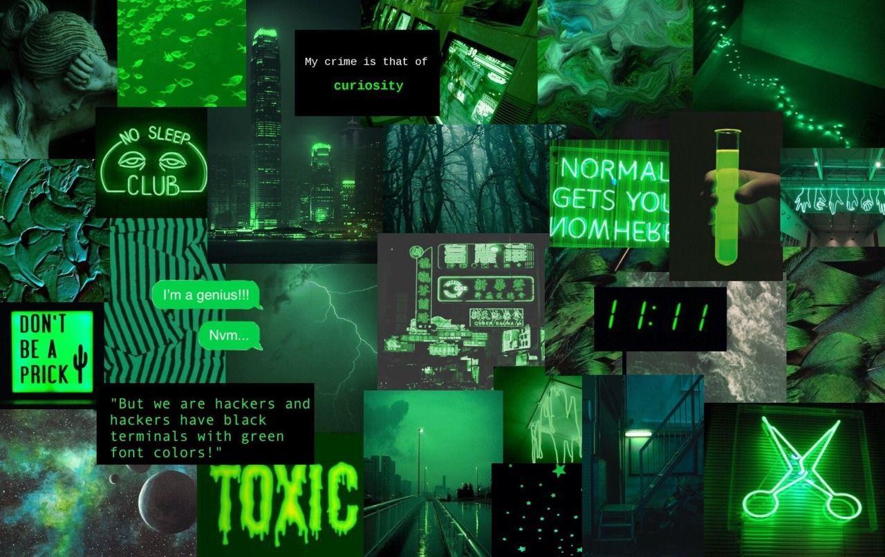 green aesthetic laptop wallpapers