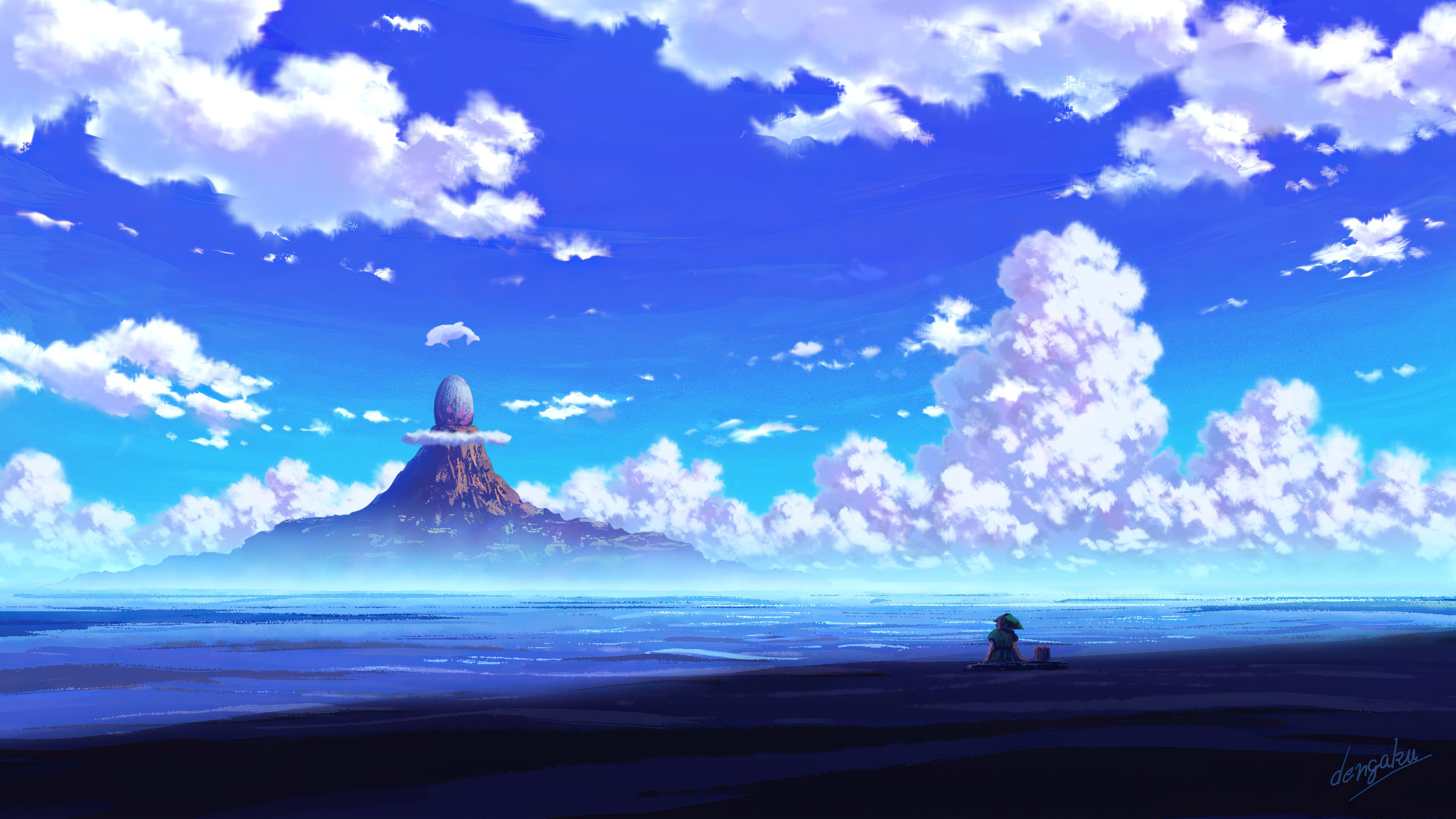 Sky Anime Landscape HD Wallpapers - Wallpaper Cave