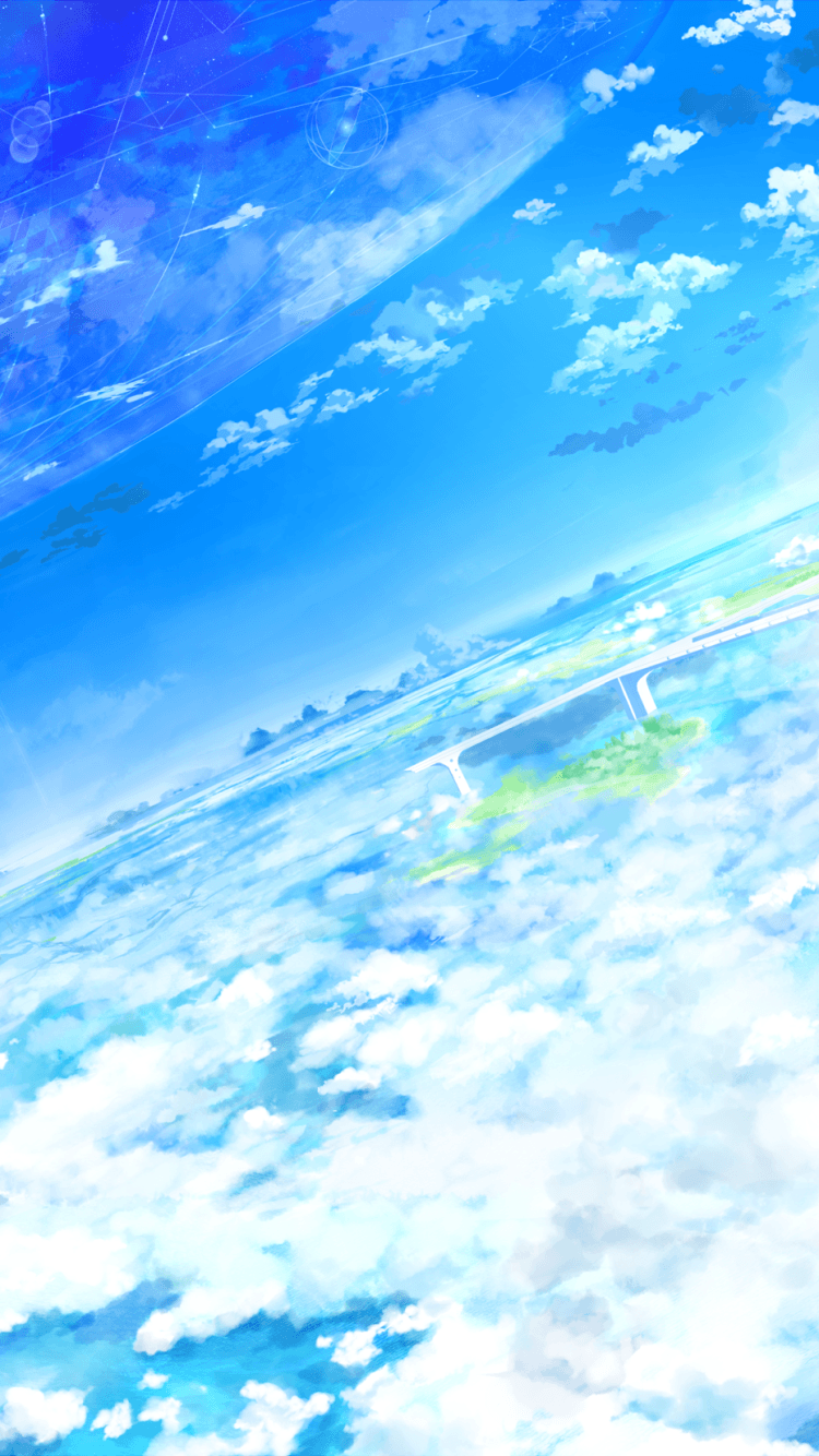 Smartphone Anime Cloud Wallpapers Wallpaper Cave