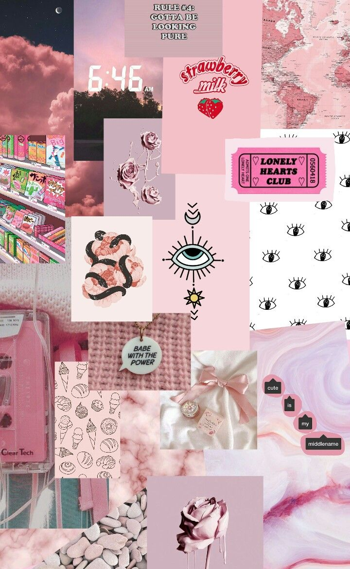 Pink Collage Computer Wallpaper Pink Collage Wallpapers Wallpaper Cave pink collage wallpapers wallpaper cave
