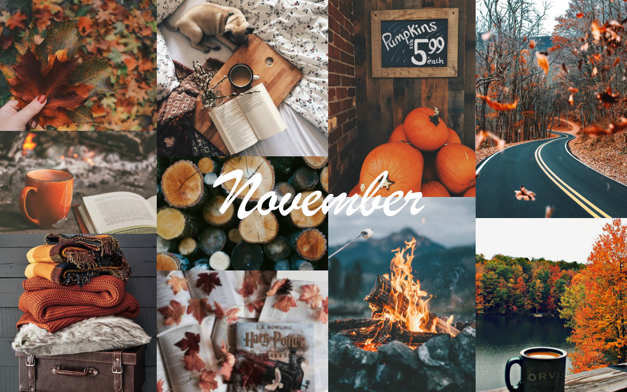 Autumn Collage Laptop Wallpapers Wallpaper Cave