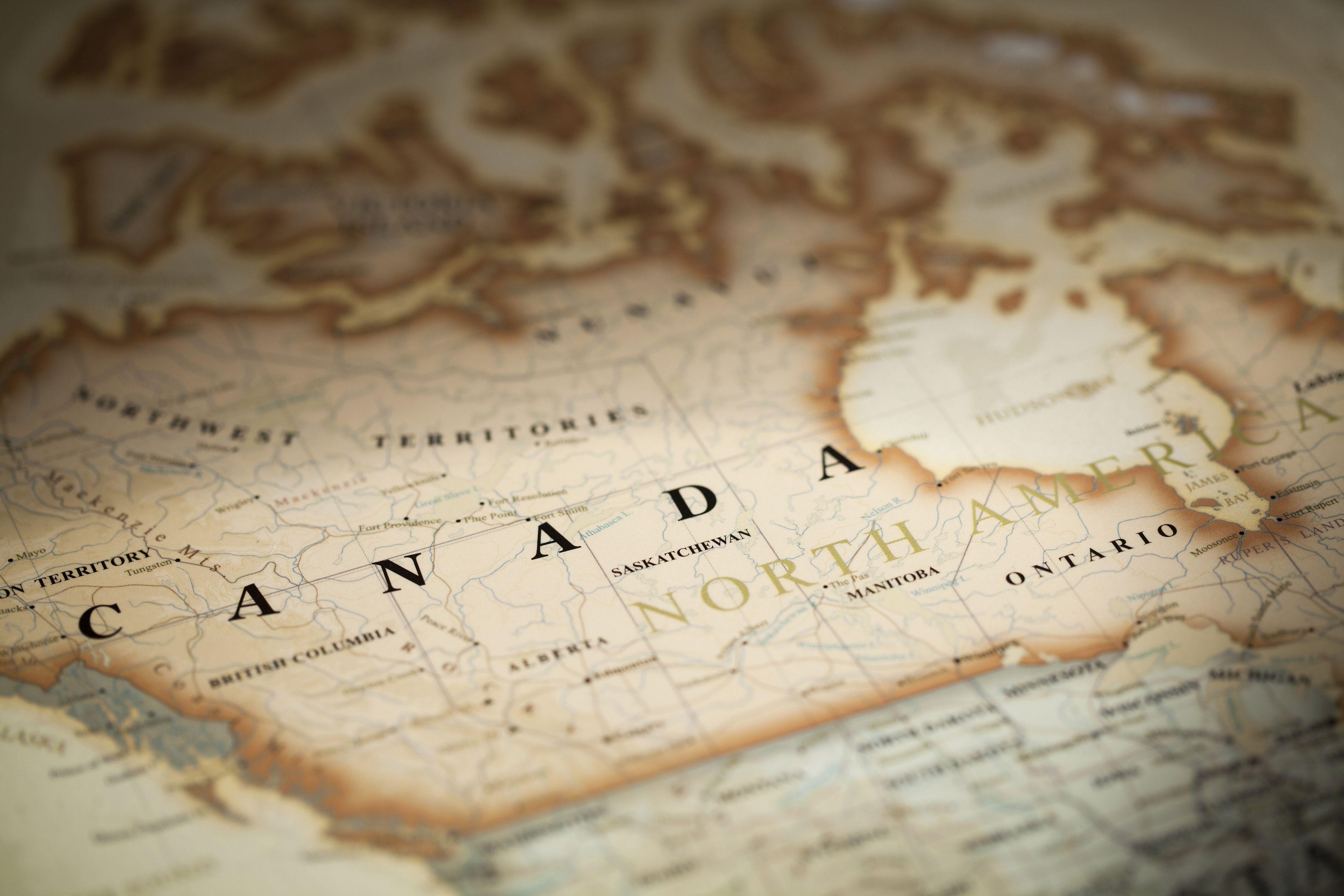 Map Of Canada Wallpaper Canada Map Wallpapers   Wallpaper Cave