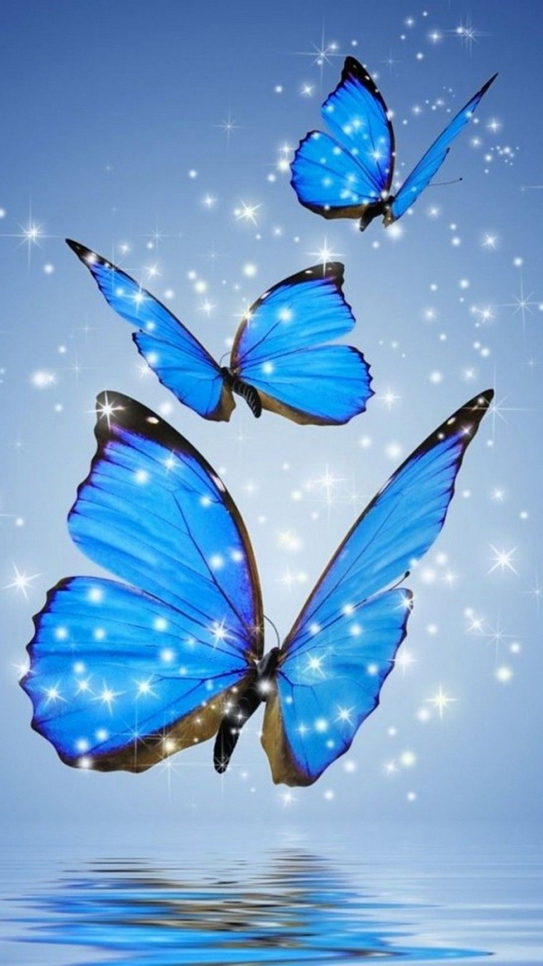 Blue Aesthetic Butterfly Wallpapers - Wallpaper Cave