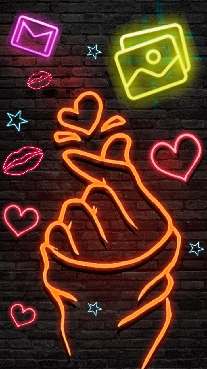Neon Love Wallpapers   Wallpaper Cave