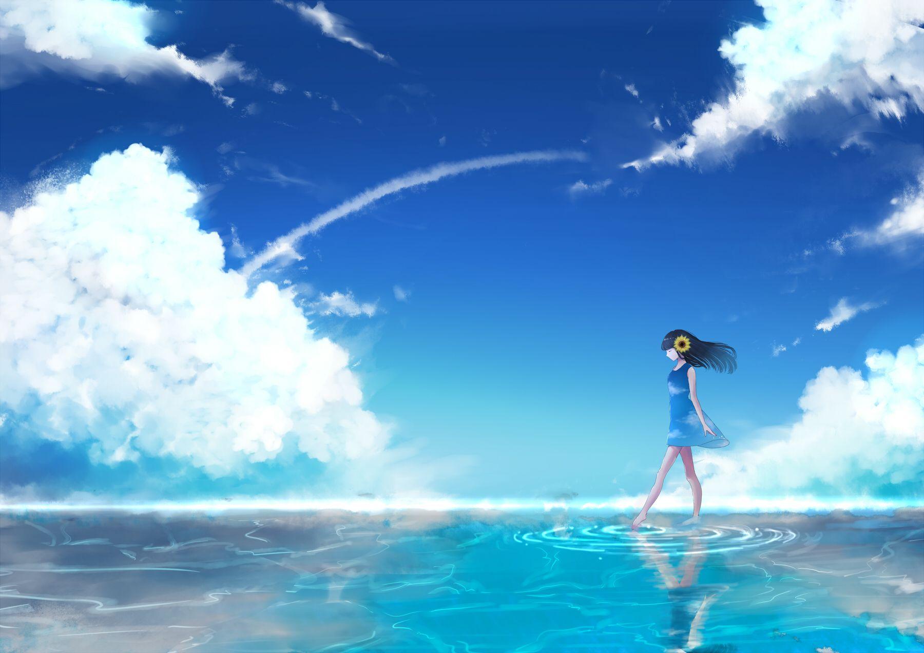 Ocean Anime Wallpapers - Wallpaper Cave