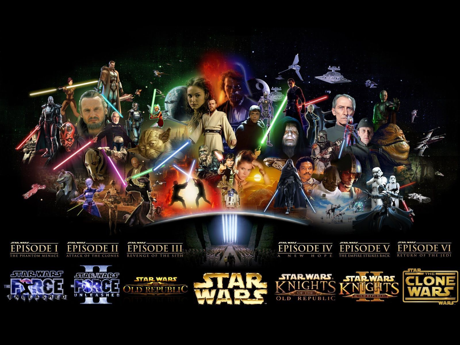 Star Wars Films Wallpapers Wallpaper Cave