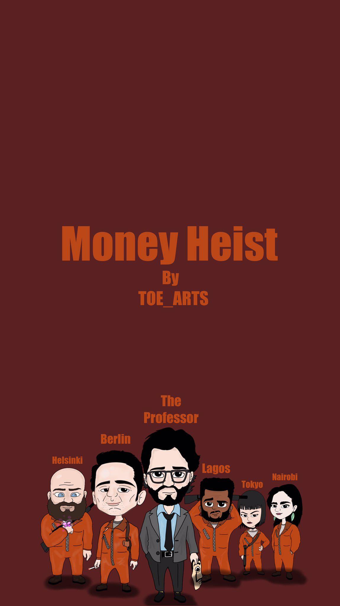 Cool Money Heist Cartoon Wallpapers Wallpaper Cave
