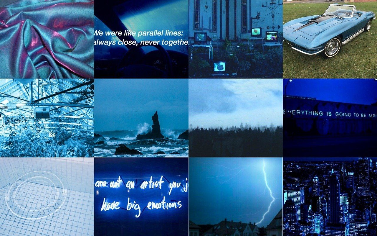 Laptop Blue Aesthetic Desktop Wallpapers Wallpaper Cave