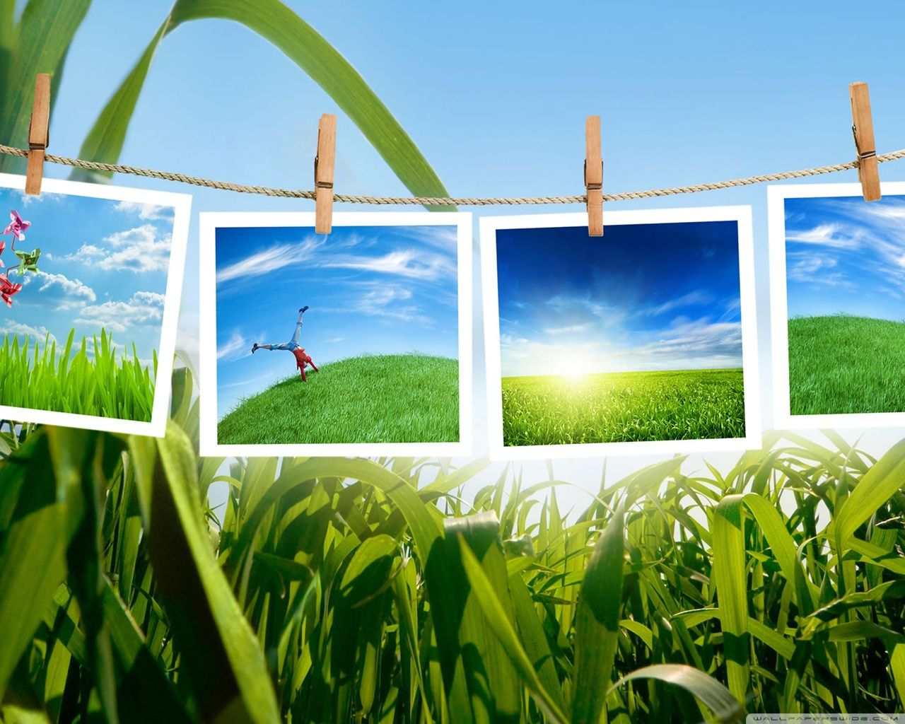 Green Laptop Collage Wallpapers - Wallpaper Cave