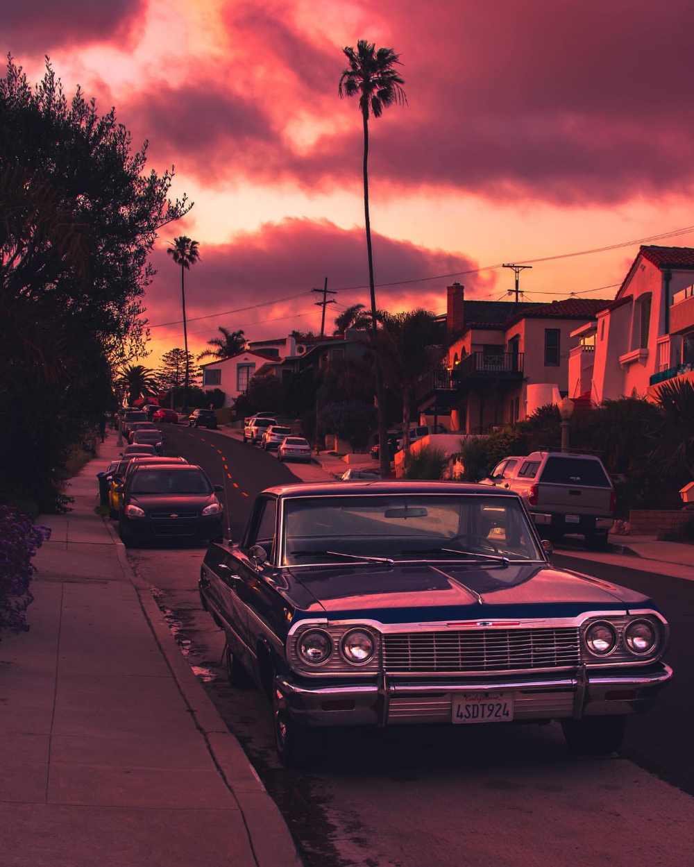 Retro Car Sunset Aesthetic Wallpapers - Wallpaper Cave