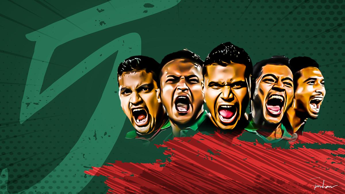 Bangladeshi Cricket Team Zoom Background 3