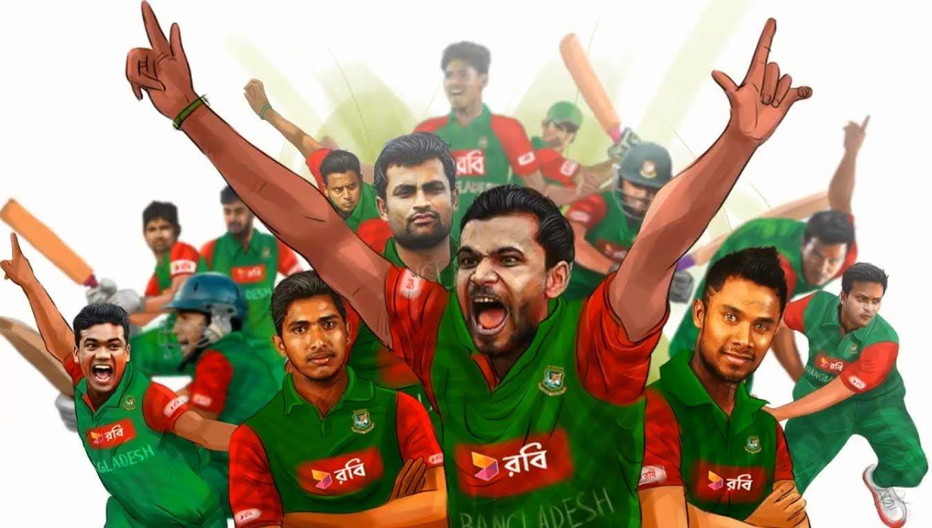Bangladeshi Cricket Team Zoom Background 6