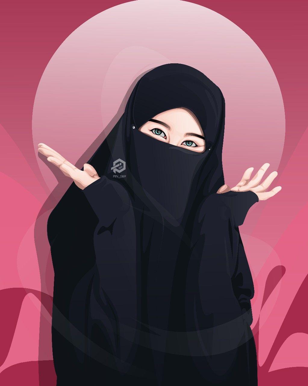 Hijab Cartoon Girl Wallpapers Wallpaper Cave