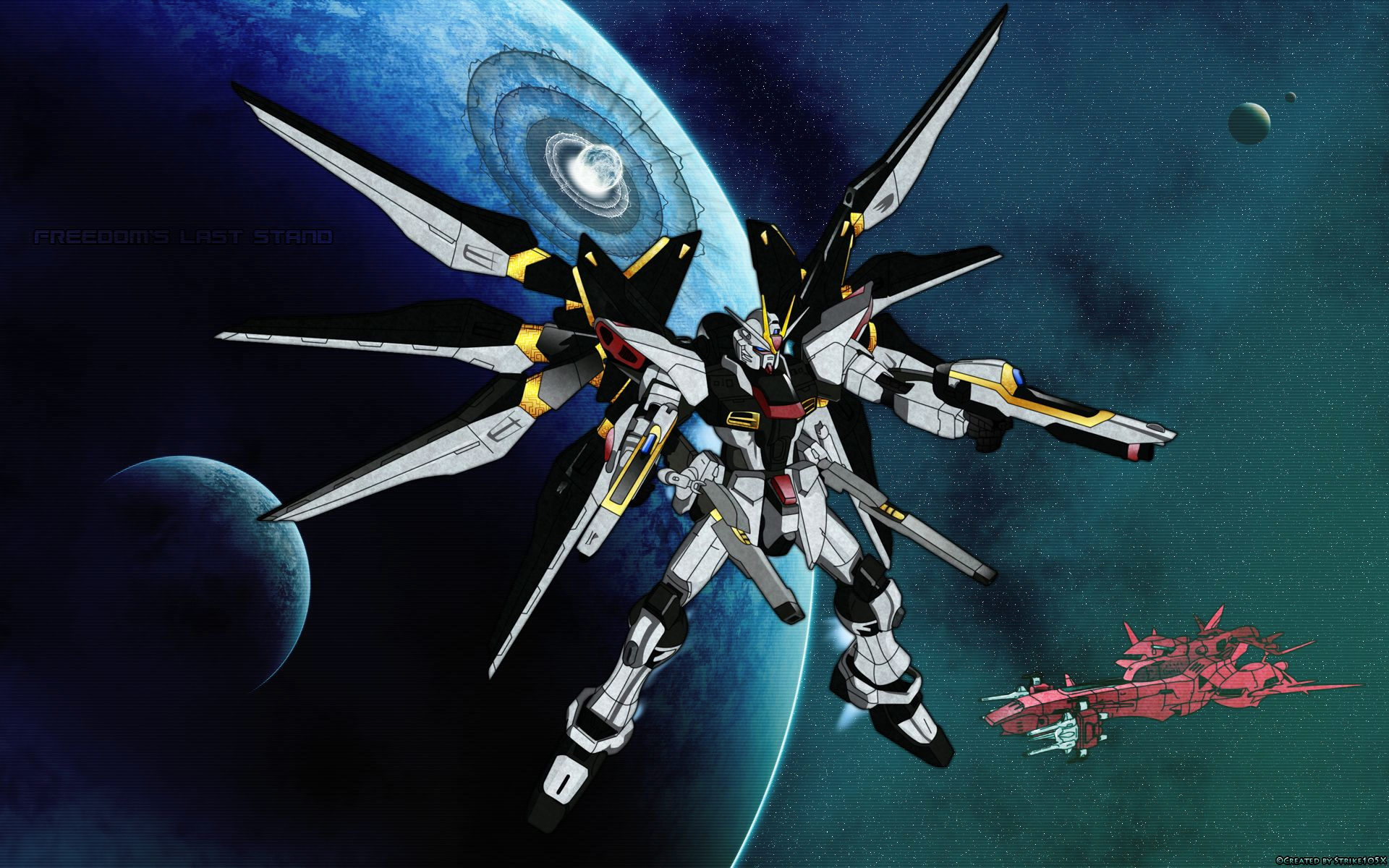 Mobile Suit Gundam SEED Destiny Wallpaper: Freedom's Last Stand