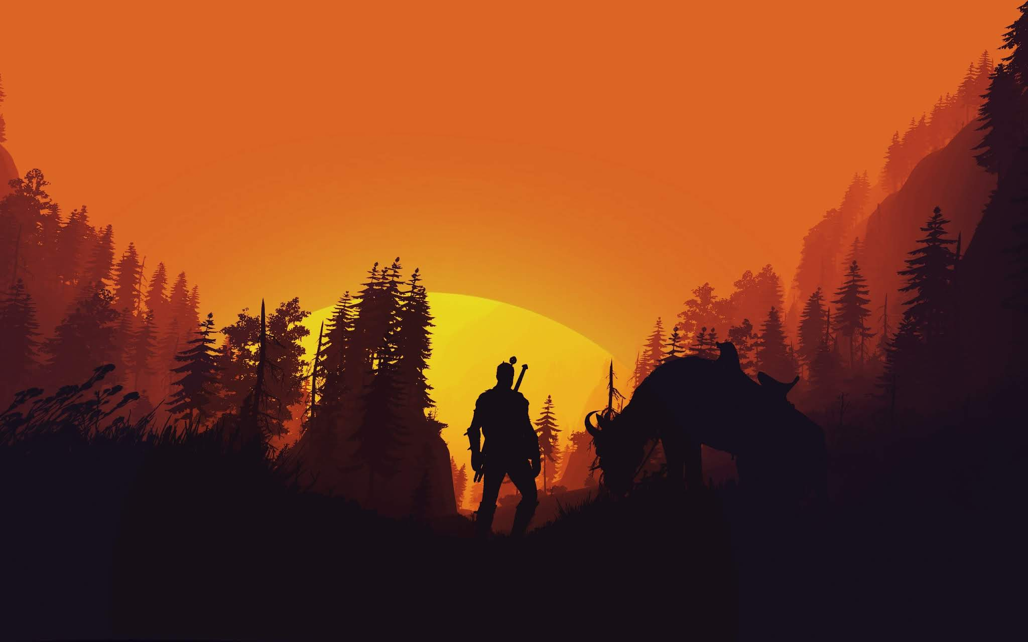 Minimalist The Witcher Wallpapers - Wallpaper Cave