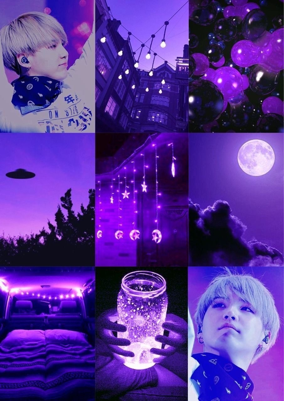 Light Purple Aesthetic Collage Wallpapers