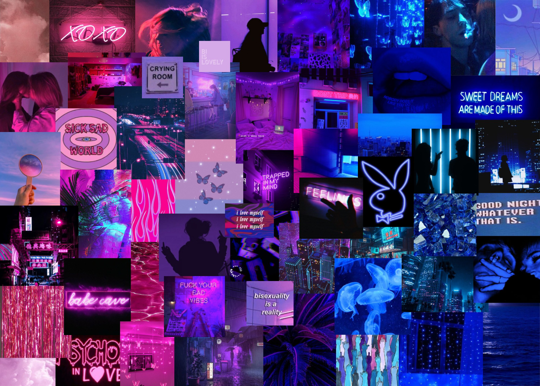 Purple Laptop Collage Wallpapers - Wallpaper Cave