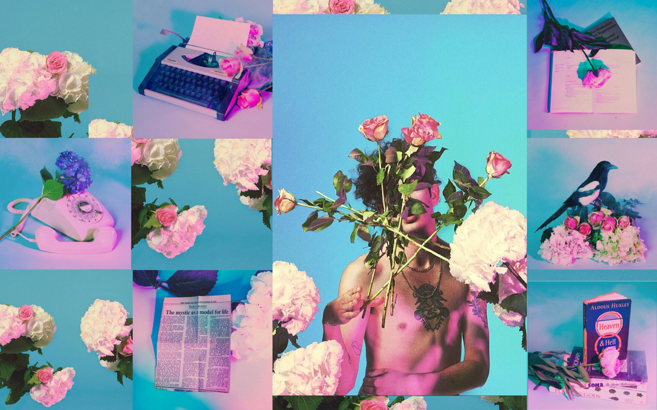 Purple Laptop Collage Wallpapers Wallpaper Cave