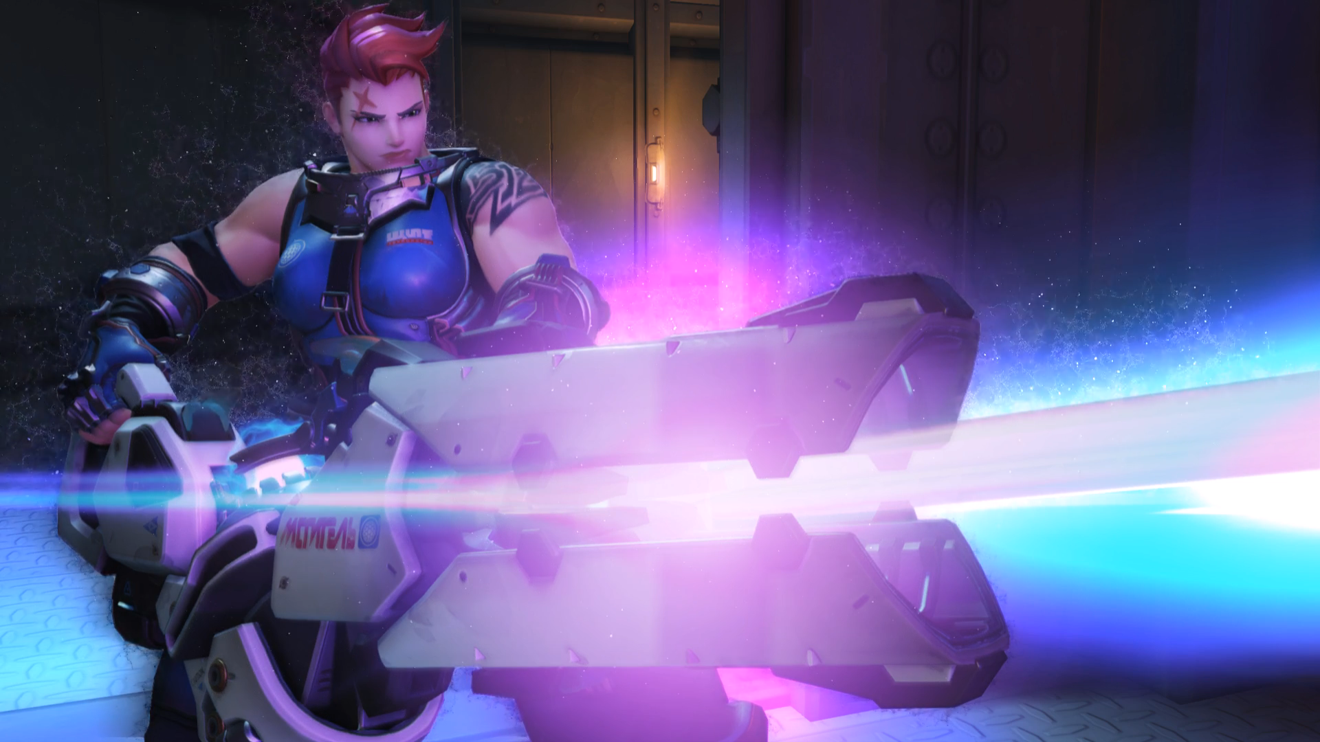 Zarya Particles Effect; Overwatch Wallpapers