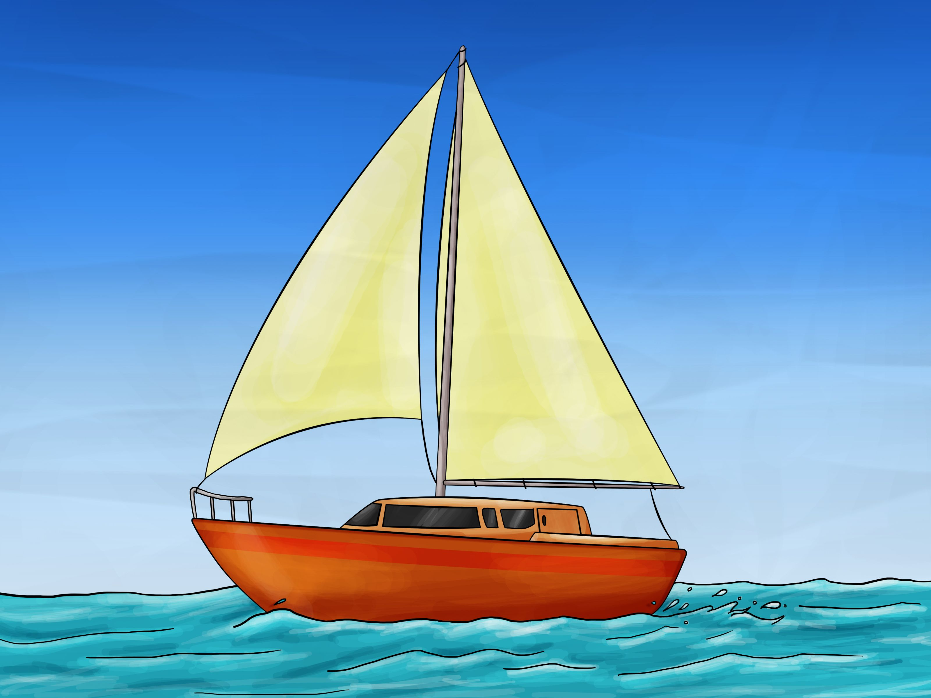 How to Draw a Sailboat: 7 Steps