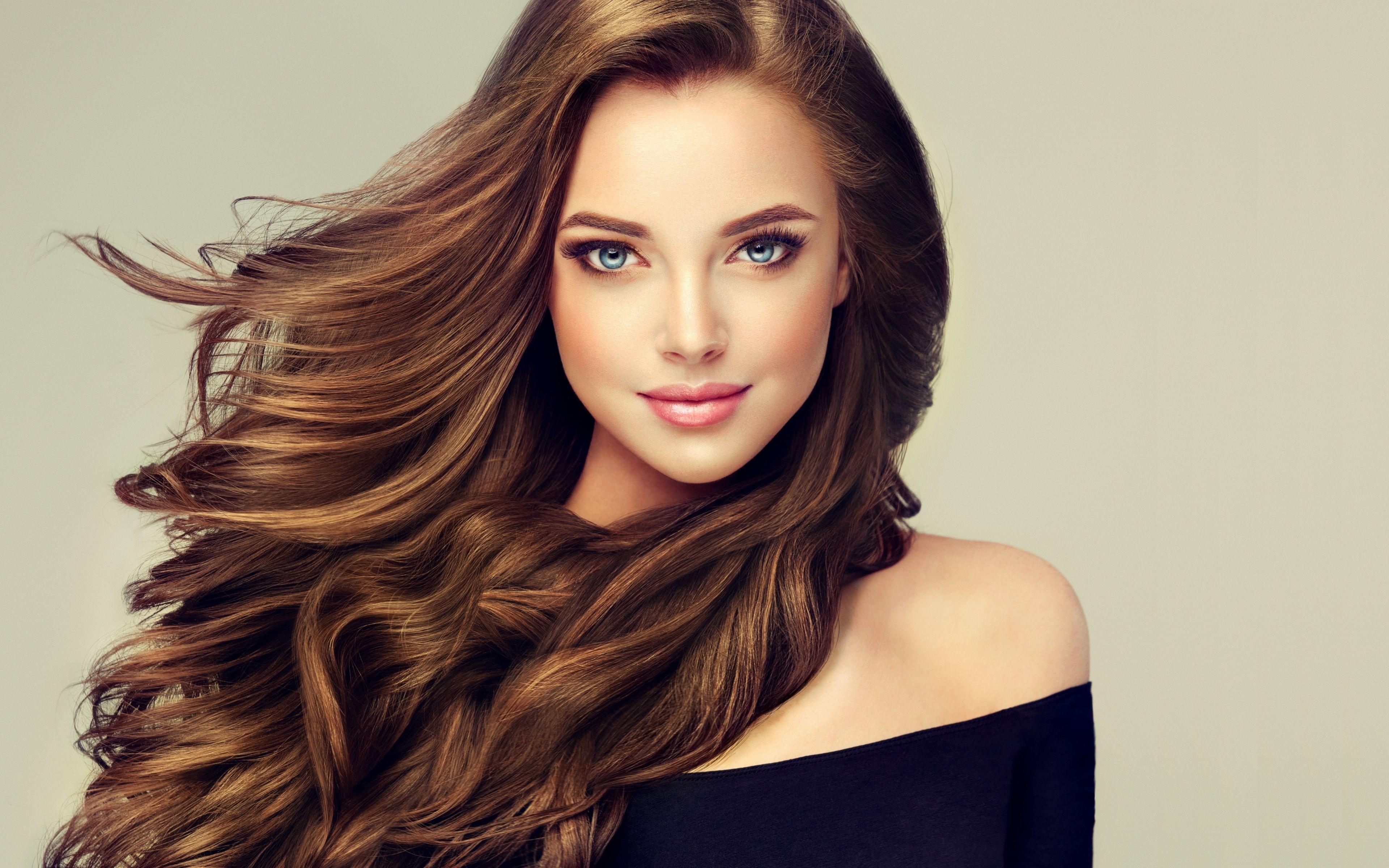 Download 1920x1080 wallpaper long hair, brunette