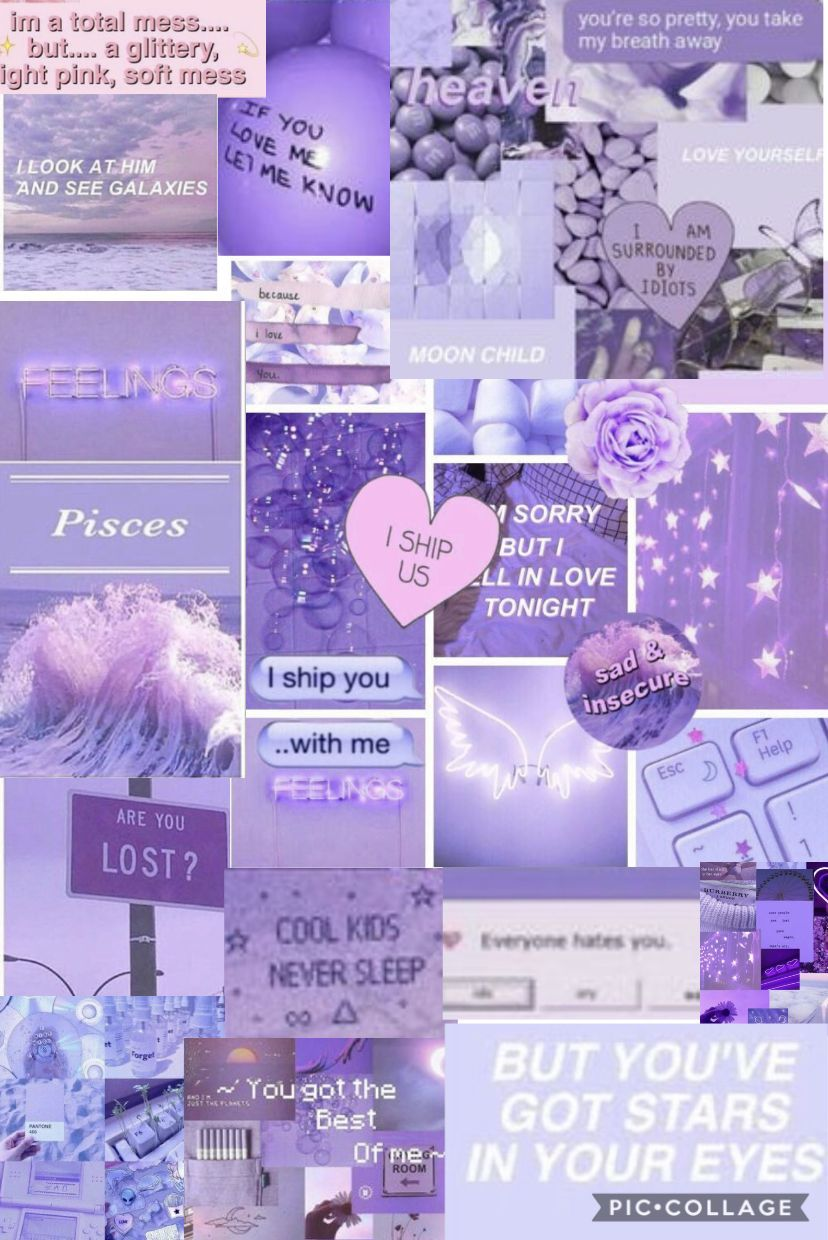 Purple Collage Wallpapers Wallpaper Cave