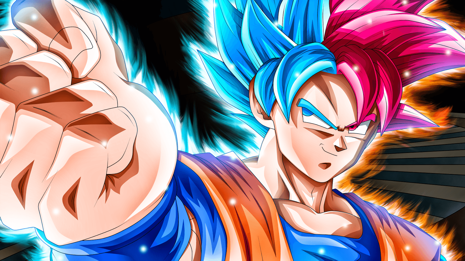 Goku Super Saiyan Blue And Gold Mix Black Wallpapers Wallpaper Cave
