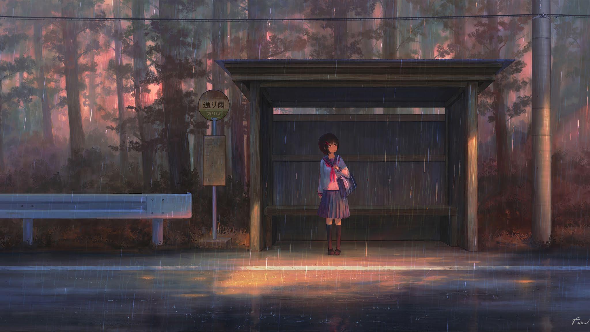 Anime Rain 4k Wallpapers - Wallpaper Cave