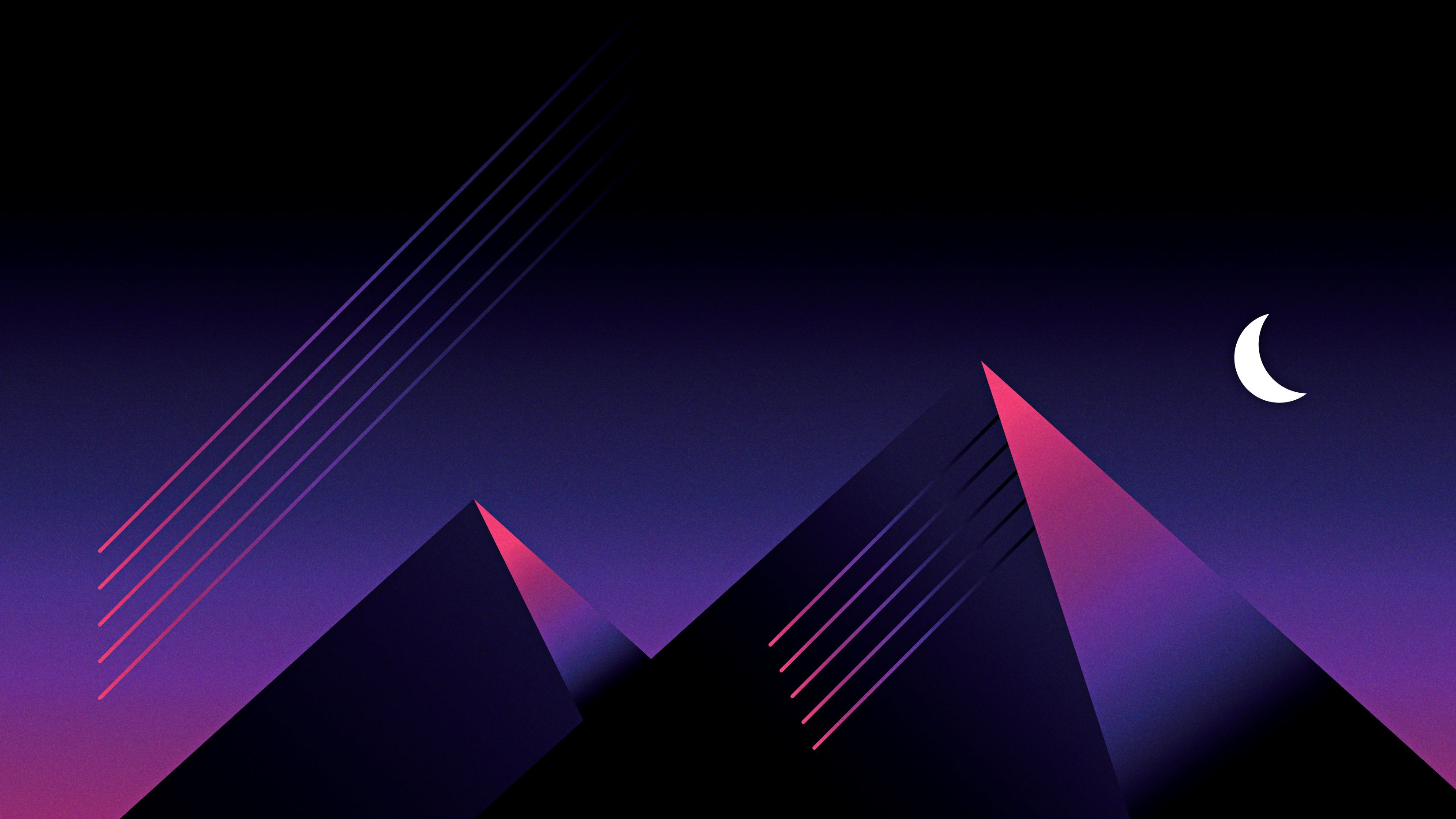 Retrowave Outrun Mountains Night, HD Artist, 4k Wallpapers, Image, Backgrounds, Photos and Pictures