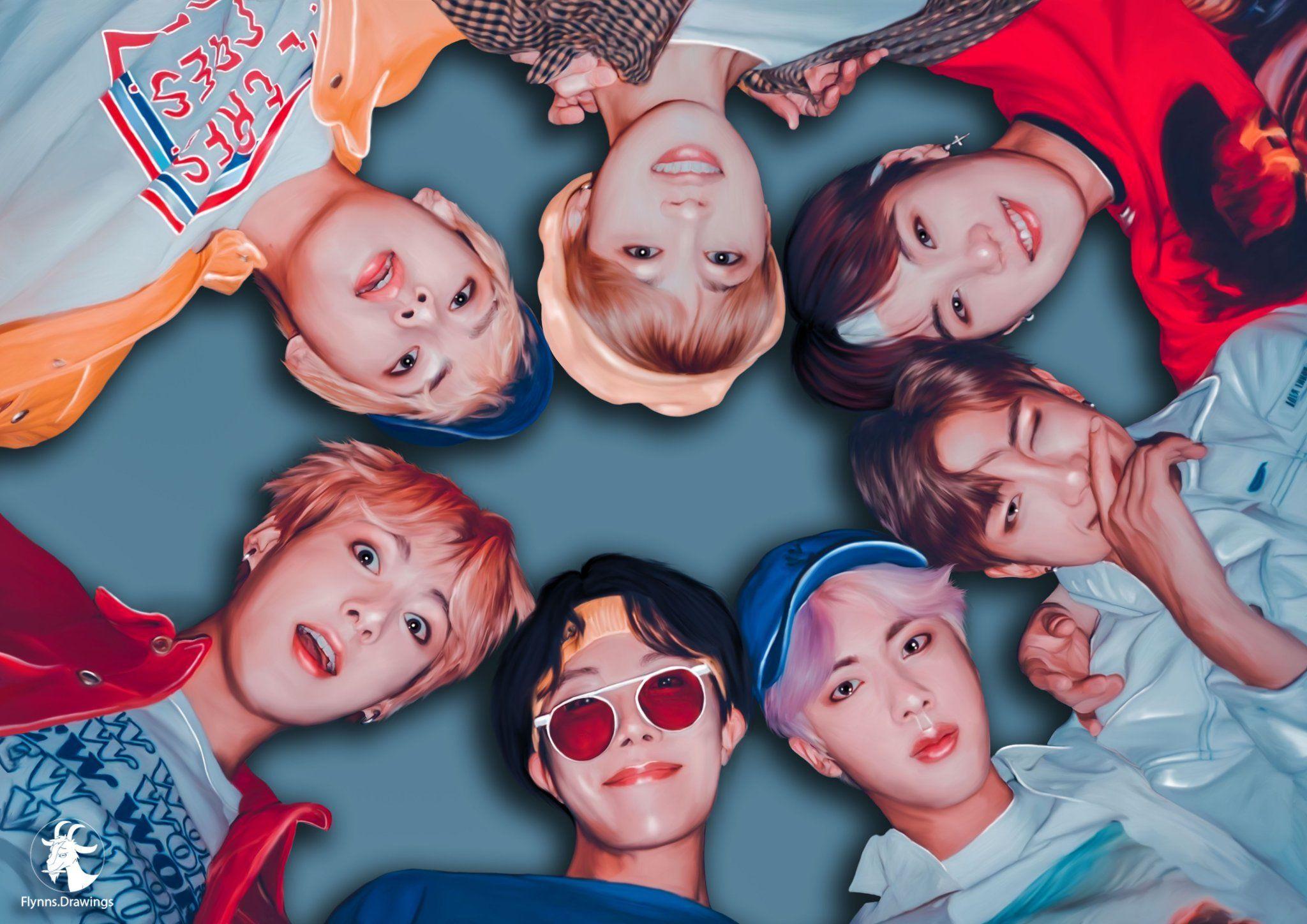 BTS Fanart Desktop Wallpapers - Wallpaper Cave