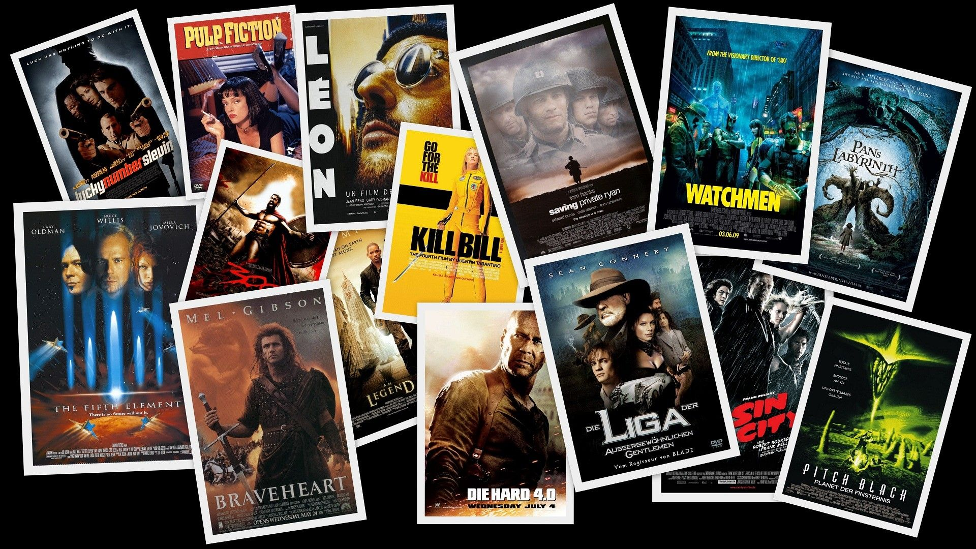 Movies digital art collage movie posters fan art wallpapers