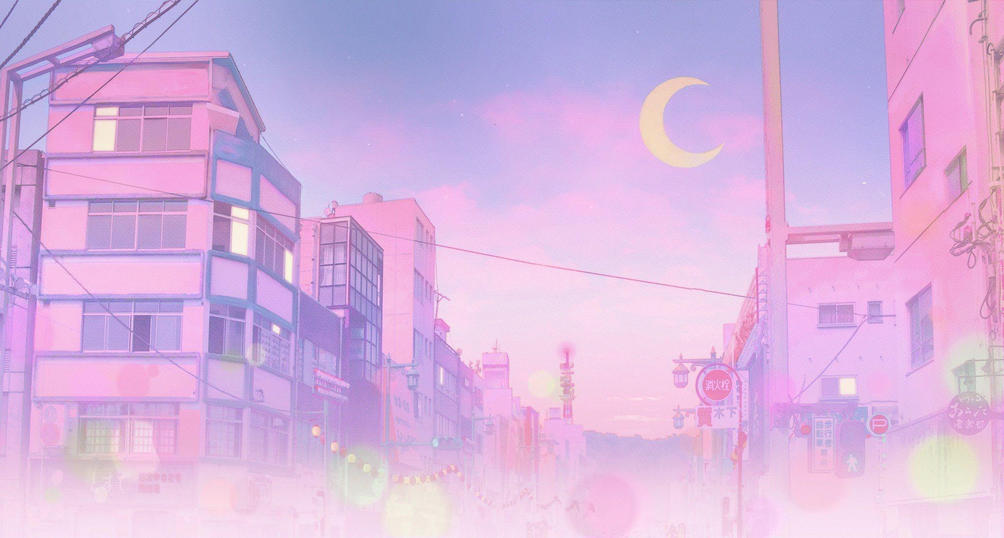 Pink Anime Aesthetic Desktop Wallpapers Wallpaper Cave