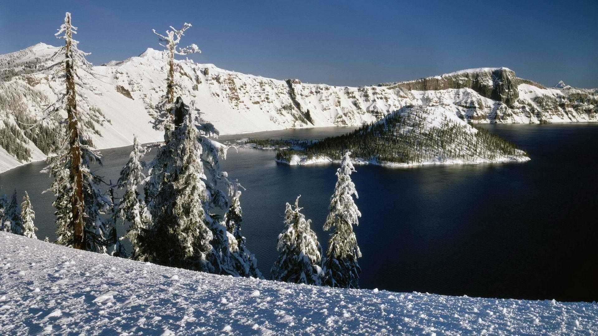 Oregon Island National Park Crater Lake widescreen wallpaper ...