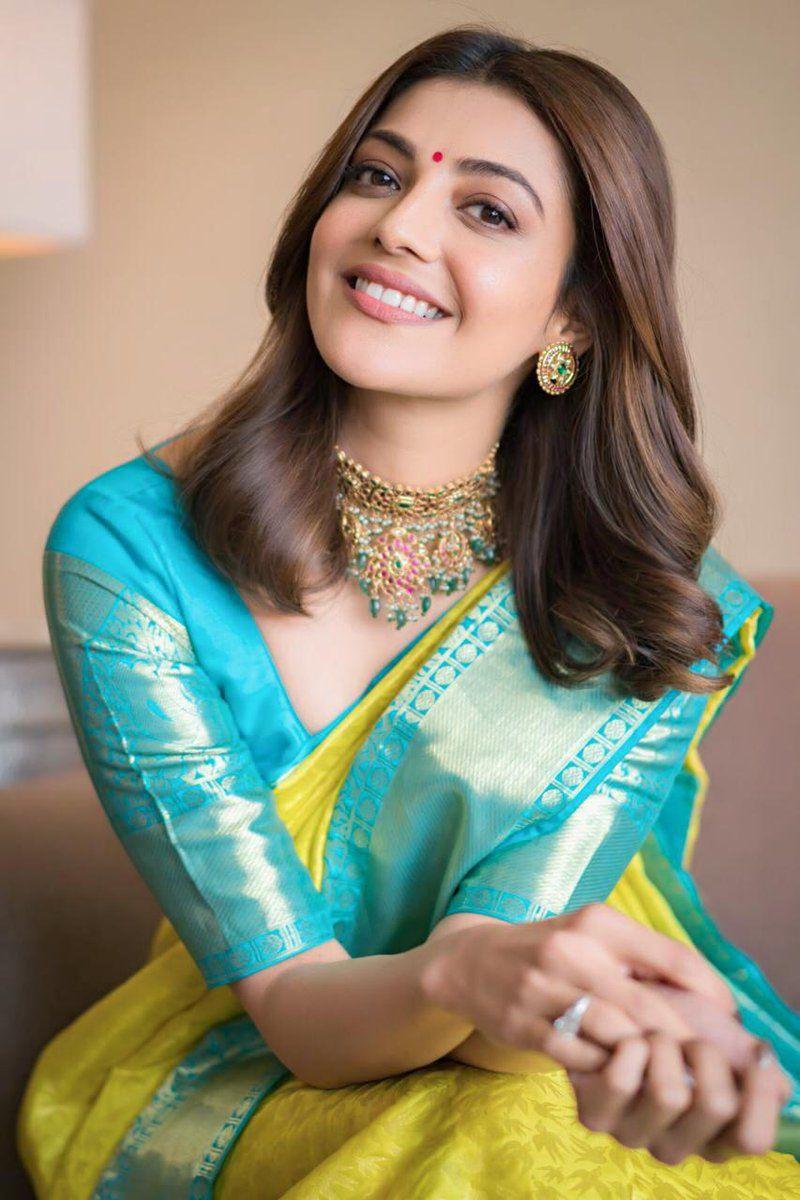 Actress Kajal Agarwal saree Photos