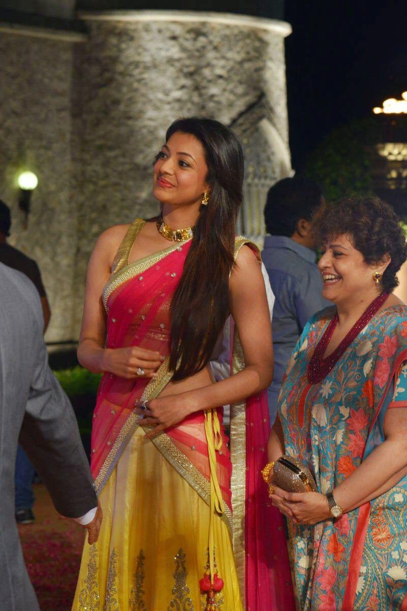 Kajal Agarwal photos at Hanshitha wedding reception photo 17