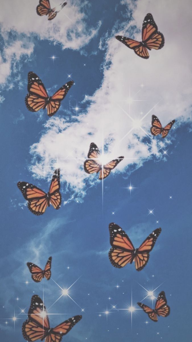 Aesthetic Blue Butterfly Wallpapers - Wallpaper Cave