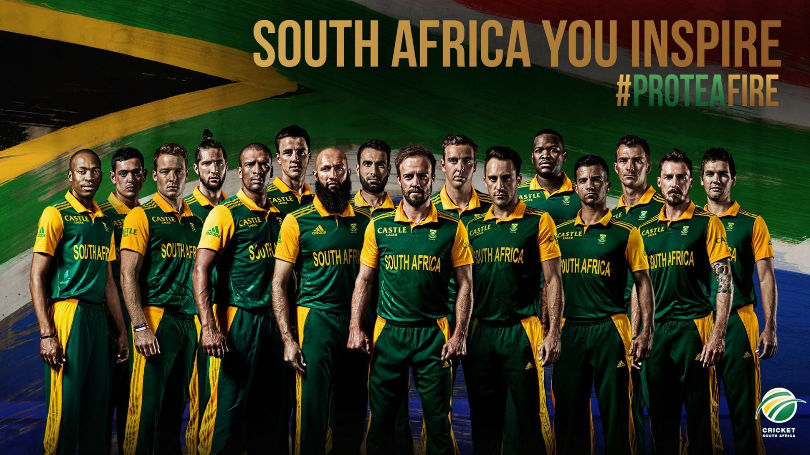 South Africa Cricket Team Zoom Background