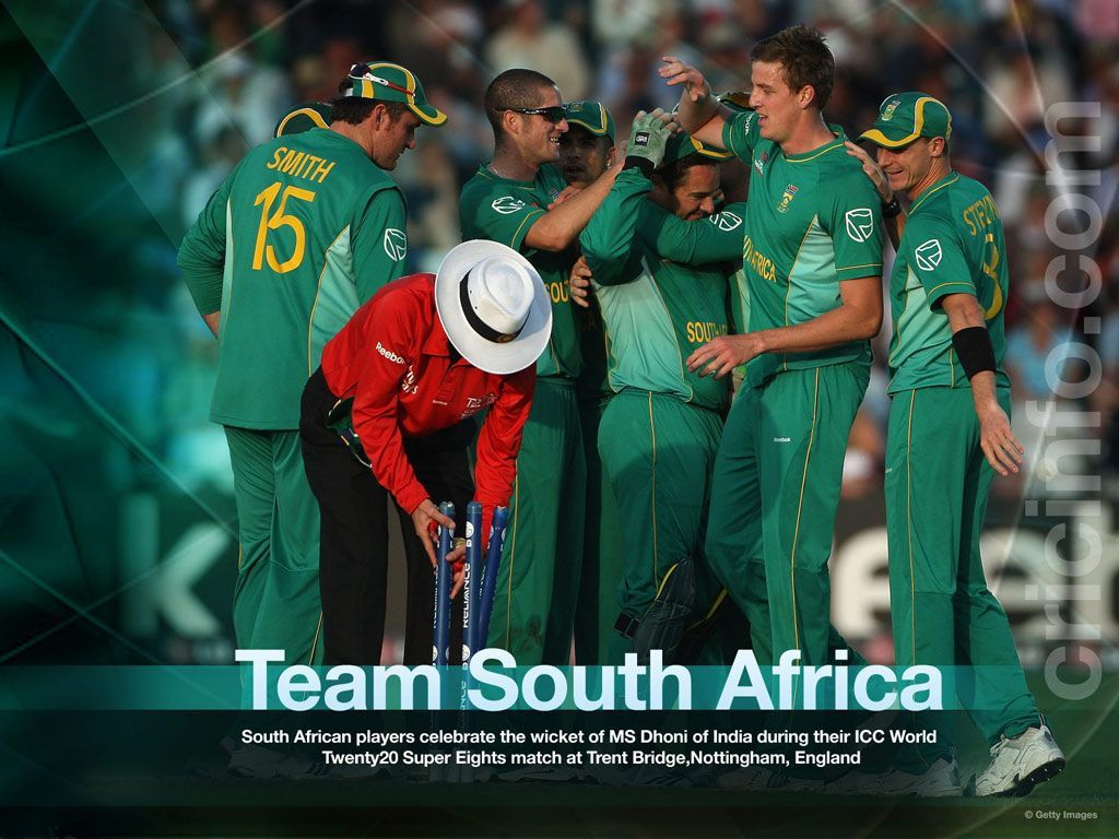 South Africa Cricket Team Zoom Background 2