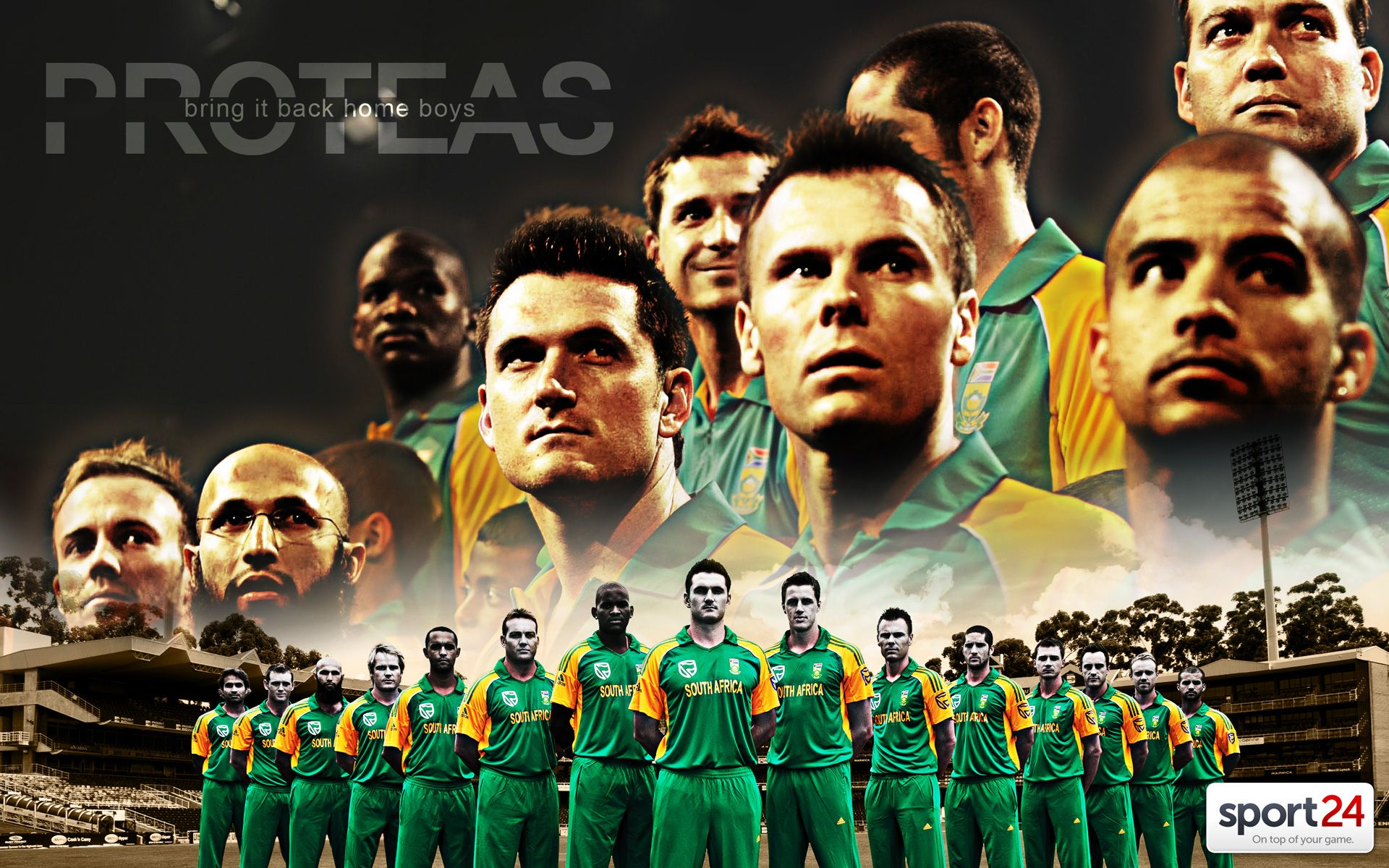 South Africa Cricket Team Zoom Background 3