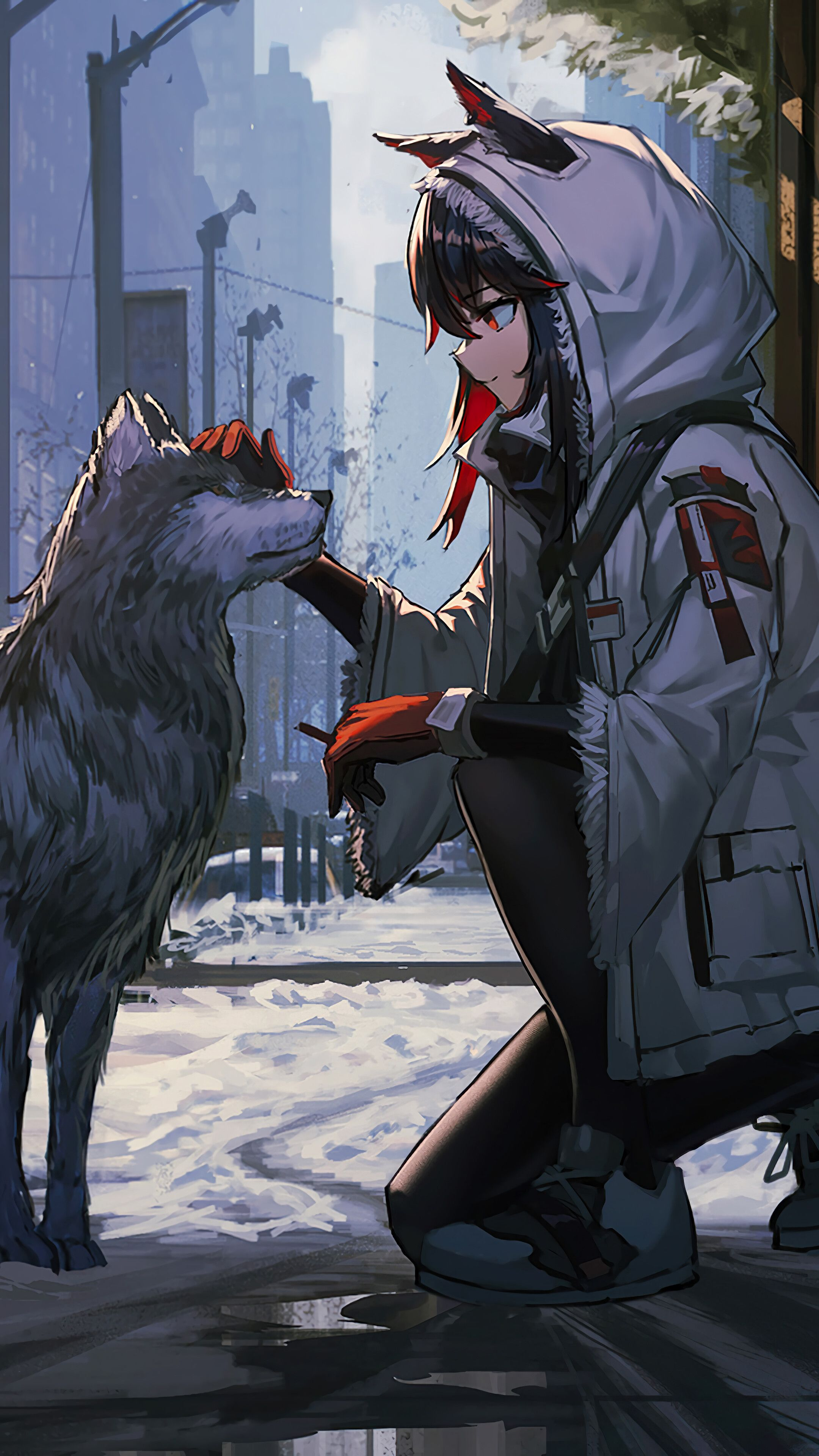 Anime Wolf Girls Wallpapers   Wallpaper Cave