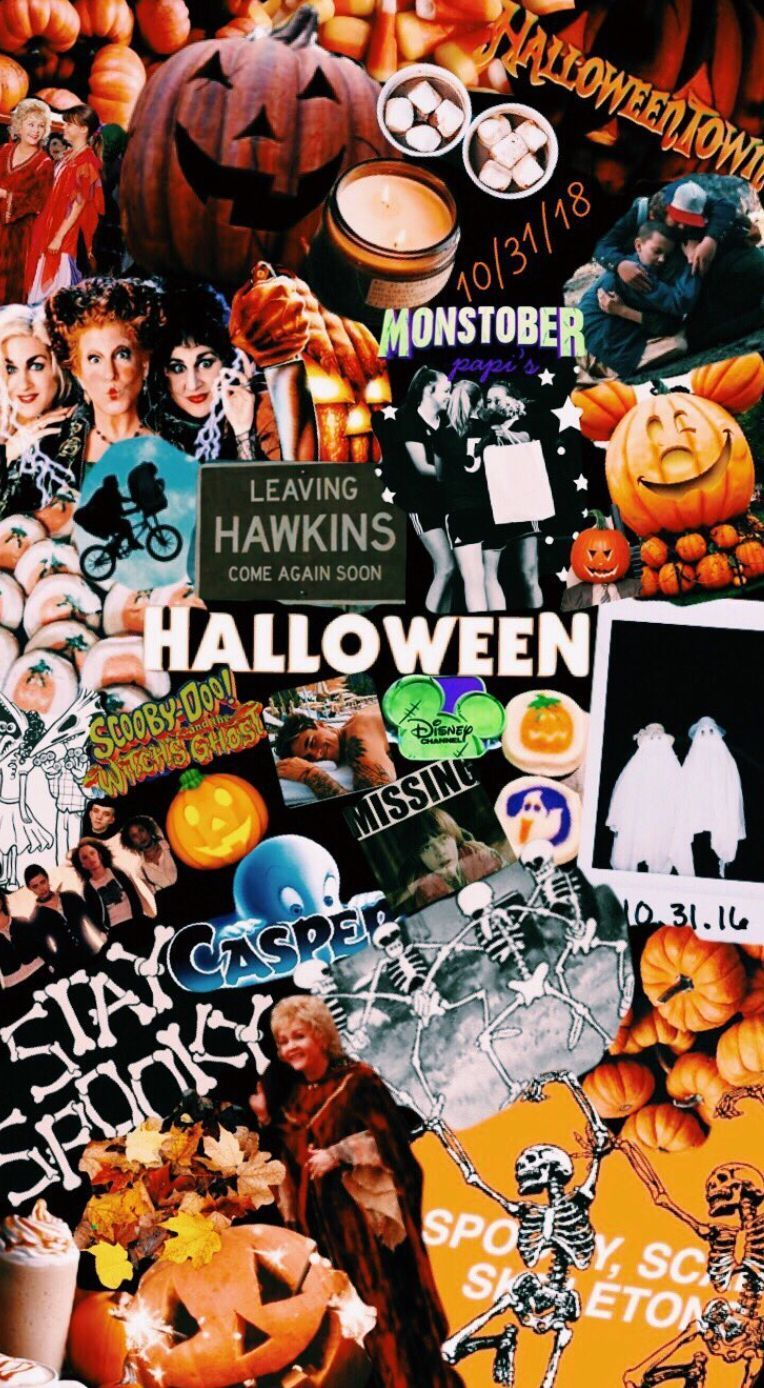 Halloween Aesthetic Collage Wallpapers - Wallpaper Cave