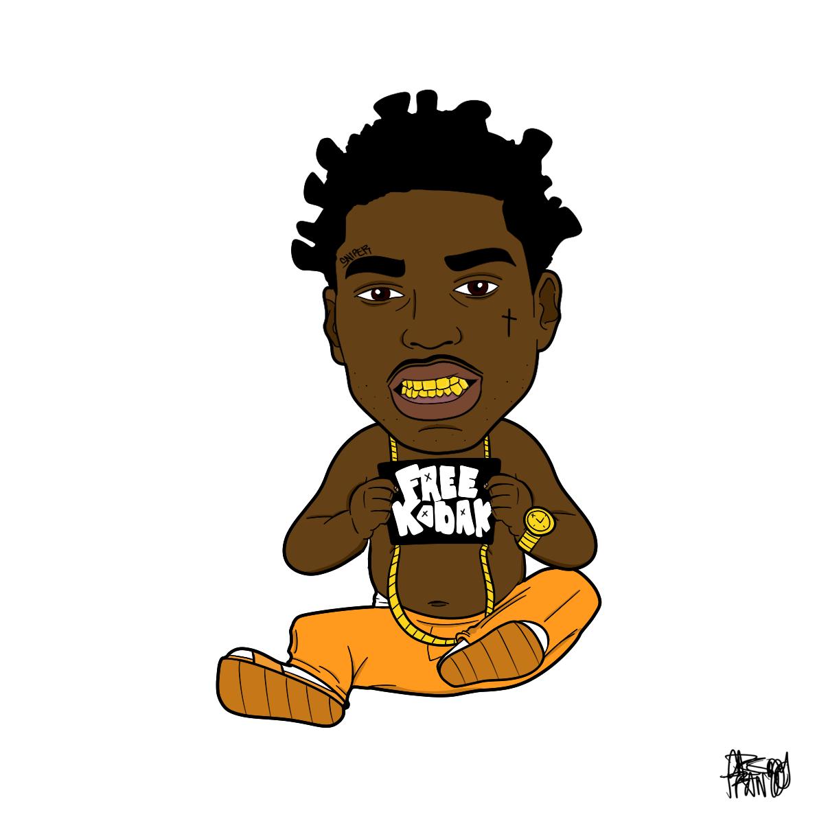 cartoon kodak drawing wallpapers rappers boy rapper drawings artwork artists florida south cave easy
