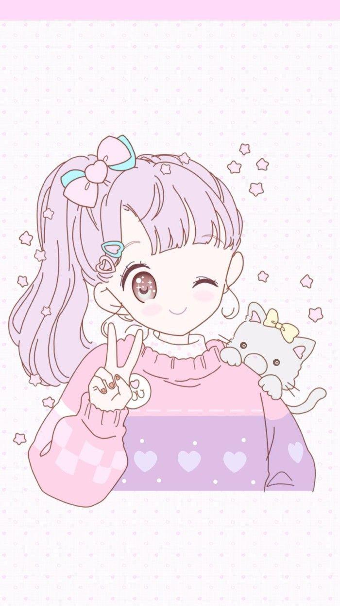 Cute Anime Kawaii Wallpapers Wallpaper Cave
